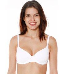 sutiã meia taça bojo básico branco - 532.013 marcyn lingerie meia taça branco