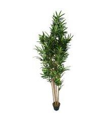 vaso bambu- pashmina- folhagem artificial- verde