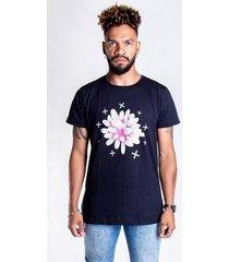 t-shirt thesaint desenho flor - gg - preto - unissex