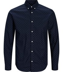 jack & jones overhemd blue 12169911 navy r - blauw