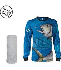 camisa  máscara pesca quisty anchova valente proteção uv dryfit plus size - camiseta de pesca quisty