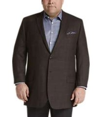 joseph & feiss gold portly sport coat bronze check plaid