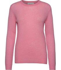 pure cashmere o-neck pullover stickad tröja rosa sparkz copenhagen