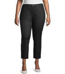 eileen fisher women's plus slim ankle jeans - black - size 20w