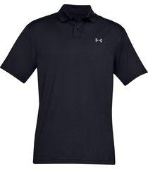 camiseta polo under armour performance textured para hombre - negro