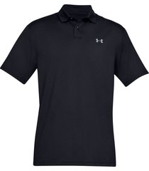 camiseta polo under armour performance textured para hombre - negro