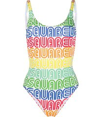 dsquared2 vintage logo swimsuit - white