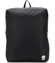alexander mcqueen beaded skull embroidery backpack - black