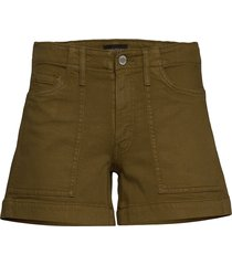 mid-rise 4 utility short shorts denim shorts grön banana republic