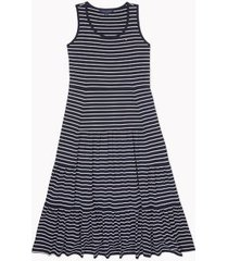 tommy hilfiger women's relaxed fit essential stripe maxi dress navy / white stripe - s