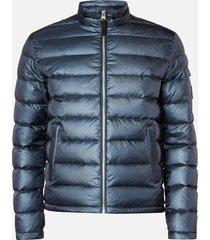mackage men's james ripstop puffer jacket - navy - xxl