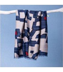 lenço catarina cor: azul - tamanho: único