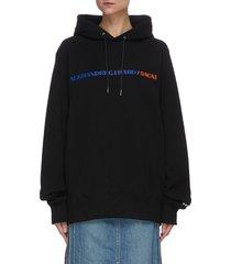 x alexander girard logo print hoodie