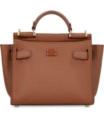 dolce & gabbana sicily soft leather handbag