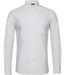aldwyn mixed panel b.d. shirt skjorta casual vit morris