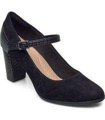 alayna shine shoes heels pumps classic svart clarks