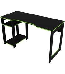 mesa gamer preto/verde tecno mobili