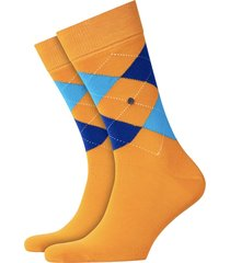 burlington king socks   orange/blue   21020-8925