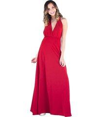 vestido largo dakar rojo ly maria paskaro