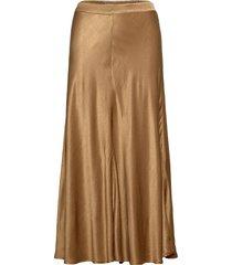 skirt on bias w. cutline knälång kjol beige coster copenhagen