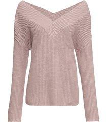 maglione con spalle scoperte (viola) - bodyflirt