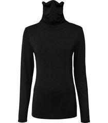 maglia a maniche lunghe con mascherina integrata (nero) - rainbow