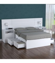 cama turca casal foscarini 4 gavetas 100% mdf 2224 branco