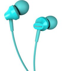 audífonos manos libres earphone 3.5 mm remax rm-501 azul