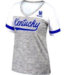 top of the world women's kentucky wildcats tiebreaker colorblock t-shirt