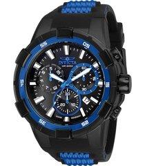 reloj invicta azul negro modelo 258en para hombres, colección aviator