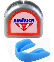 protetor bucal com estojo américa azul