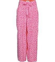 flower jam pleasy pantalon met rechte pijpen roze mads nørgaard