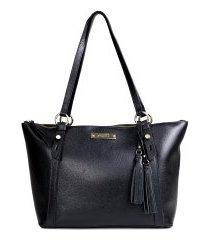 bolsa feminina casual shopper zariff em couro