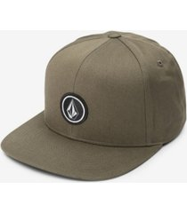 volcom men's quarter snap-back hat