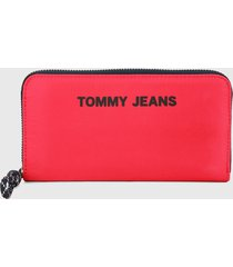 billetera fucsia-azul tommy jeans