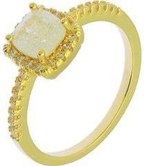 anel dona diva semi joias solitário fusion feminino