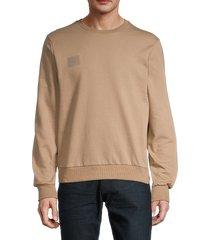 noize men's logo sweatshirt - taupe - size s