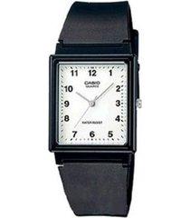 reloj analógico hombre casio mq-27-7b - negro con blanco