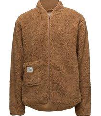 original fleece jacket sweat-shirt tröja beige resteröds