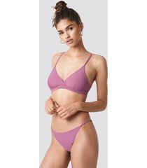na-kd swimwear thin strap bikini briefs - purple
