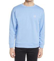 men's a.p.c. men's mike logo crewneck sweatshirt, size x-large - blue