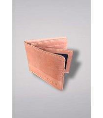 billetera marrón rever pass texture leather