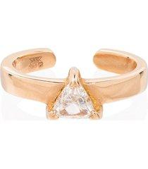 anita ko 18kt rose gold trillion diamond ear cuff - yellow