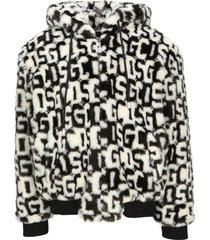 gcds eco fur logoed jacket