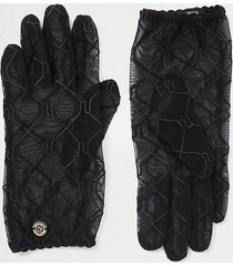 river island womens black ri monogram sheer gloves