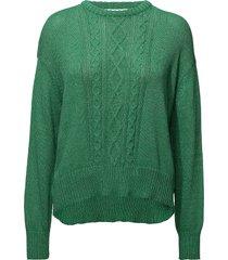 edy stickad tröja grön custommade