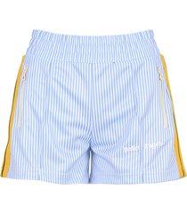 palm angels stripe logo track shorts
