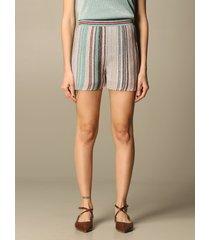 missoni short missoni shorts in lurex striped fabric