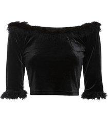 maglia con spalle scoperte (nero) - rainbow