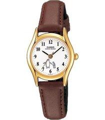 reloj casio ltp_1094q_7b6r marrón cuero